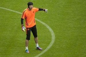 Petr Čech qui joue au Chelsea.