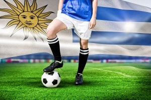 Drapeau de l'Uruguay, pays de football.