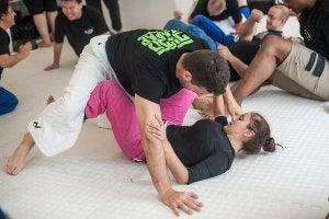 Rencontre mixte de sumo.