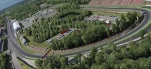 Le circuit F1 de Monza en Italie.