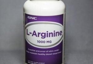 Une boîte de compléments à base d'arginine.