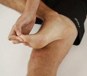 Massage du pied.