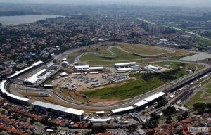 Le circuit Interlagos au Brésil.