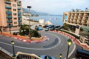 Le circuit F1 de Monte Carlo.