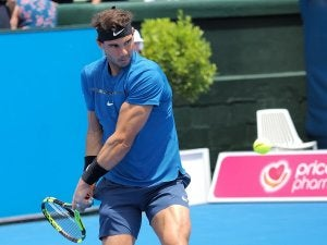 Rafael Nadal pendant un match.