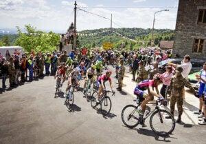 Etape lors du Tour d'Italie.