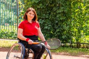 Le sport pour une femme handicapée
