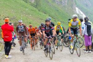 Cyclistes lors du Tour d'Italie.