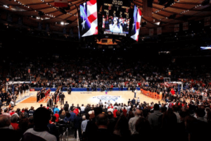 basket au Madison Square Garden