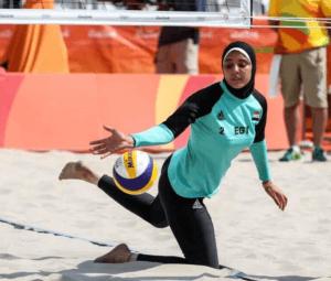 Doaa Eighobashy en plein jeu