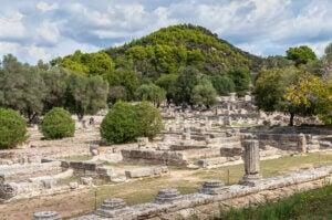Les ruines archéologiques d'Olympie.
