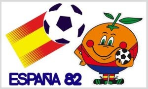 Naranjito, la mascotte de la coupe du monde en Espagne.