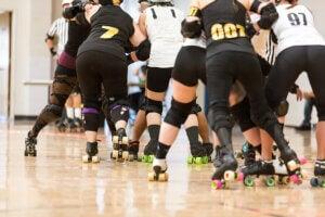 Roller derby parmi les sports sur patins