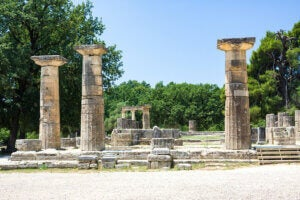 Site archéologique d'Olympie.
