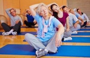 Un cours de gym avec des personnes âgées.