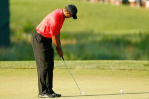 Tiger Woods en train de jouer