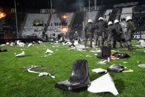 Un stage saccagé après des actes de violence.