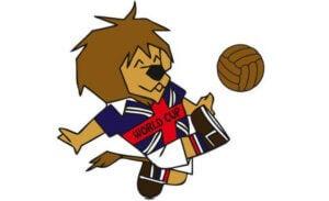 World Cup Willie, la mascotte du mondial d'Angleterre.
