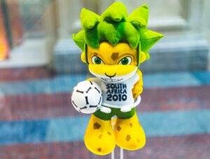Zakumi, la mascotte du mondial de football d'Afrique du Sud.