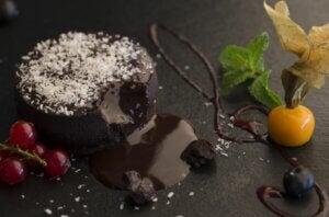 Un coulant au chocolat sans gluten.