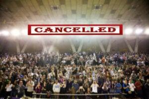 événement sportif annulé