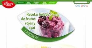 Glace aux fruits rouges de la marque Granero Integral.