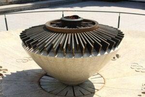 La flamme olympique au musée de Lausanne