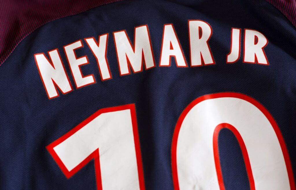 Maillot de Neymar au PSG