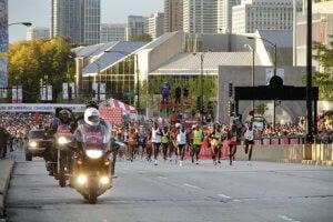 Course sur marathon de Chicago.