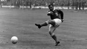 Ferenc Puskas lors d'un match.