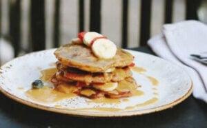 Des pancakes à la banane.