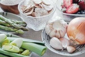 Aliments contenant des prébiotiques.