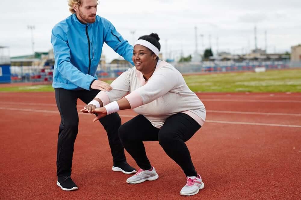 Exercices simples pour les personnes souffrant d'obésité