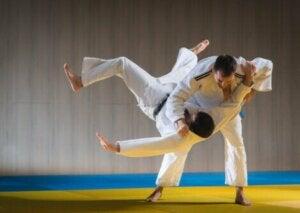 Un match de judo.
