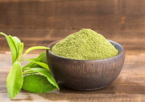 Un des types d'édulcorants : la stevia.