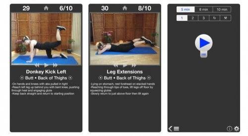 applicazioni daily butt workout