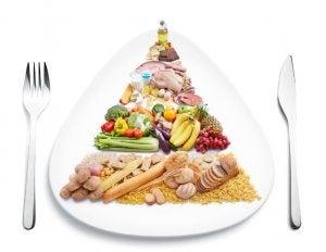 piatto con esempio di alimentazione settimanale
