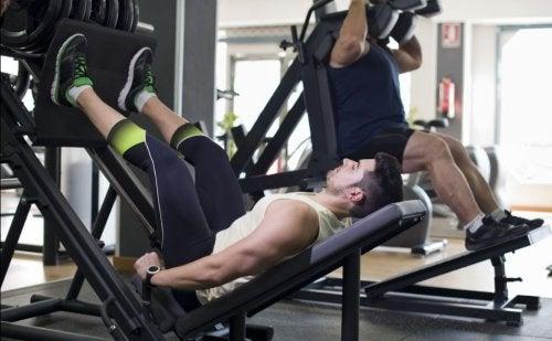 Ripetizioni esercizio press leg