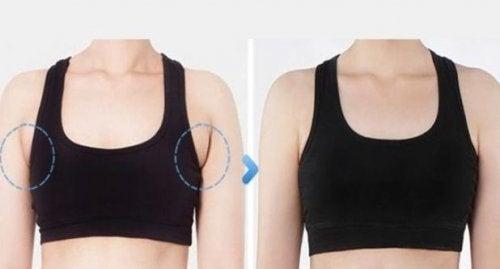Eliminare il grasso sotto le ascelle