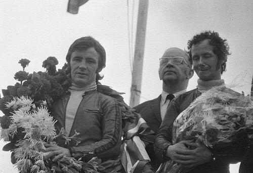 Angel Nieto sul podio negli Anni Settanta
