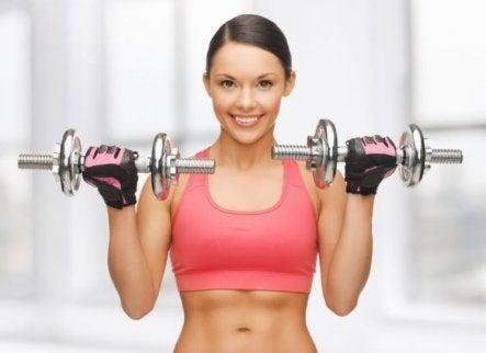 esercizio con pesi