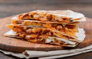 piatto messicano quesadillas