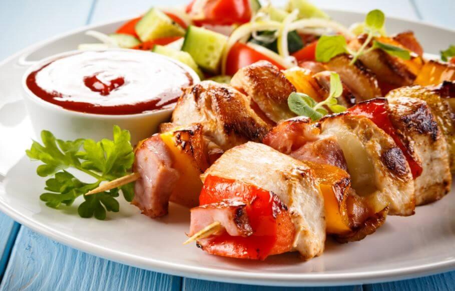 Ricette salutari, spiedini di pollo
