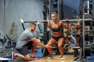 back squat per i muscoli posteriori