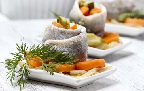 Esempio di pasti leggeri al pesce