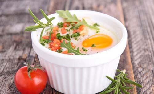Esempio di uova al forno