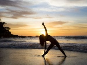 trikonasana per la flessibilità