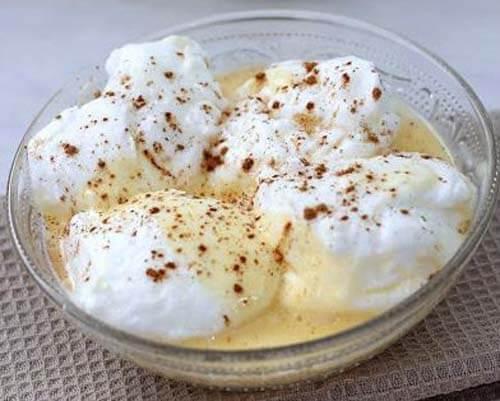 Ricetta di uova di neve, uno dei piatti dolci con l'uovo