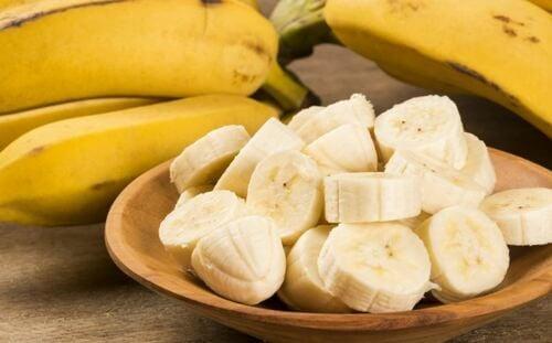 Banana in pezzi