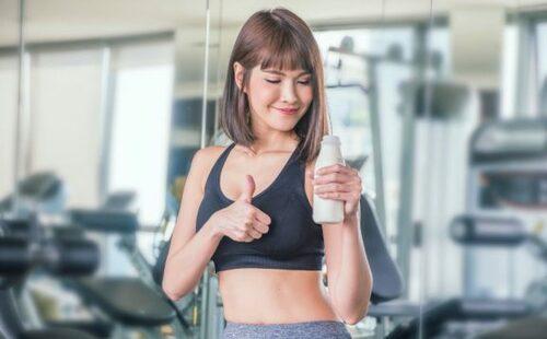 Bere latte prima dell'esercizio